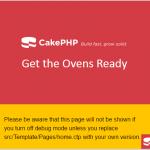 CakePHPスタート画面